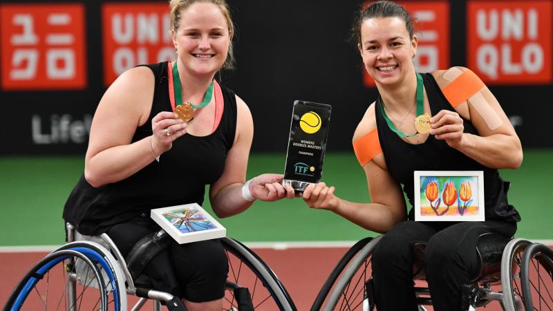 Marjolein Buis and Aniek van Koot won the 2018 Doubles Masters title on home soil in Netherlands