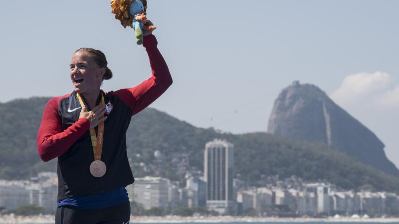 Melissa Stockwell won bronze at the Rio 2016 Paralympic Games
