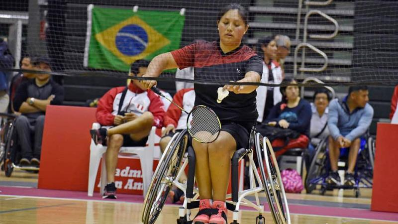female Para badminton player Pilar Jauregui