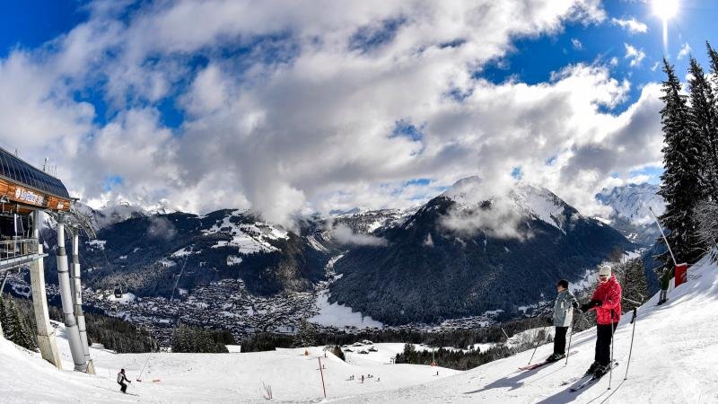 a beauty shot of the Morzine ski slope and mountains