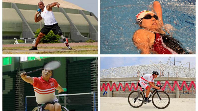 Para athletes competing in swimming, cycling and athletics