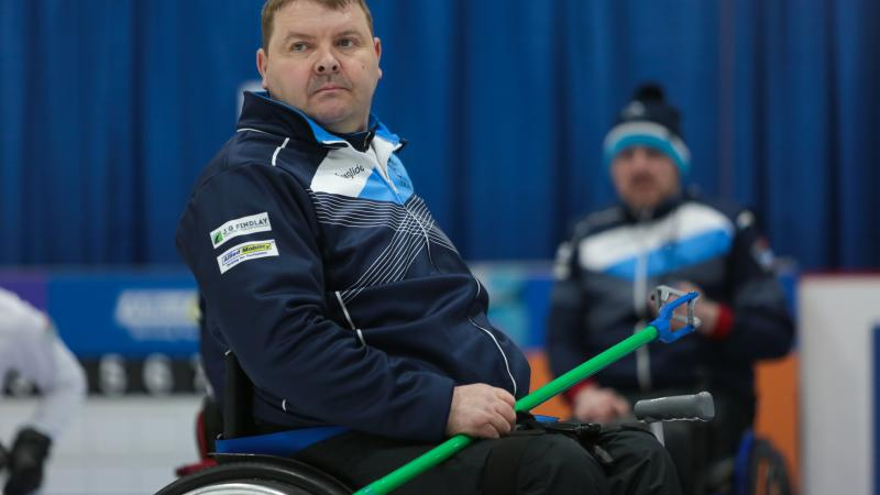 male wheelchair curler David Melrose