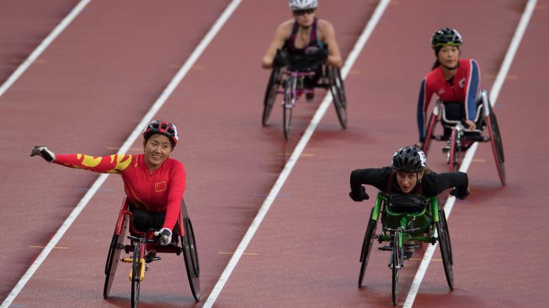 Chinese wheelchair racer Hongzhuan Zhou