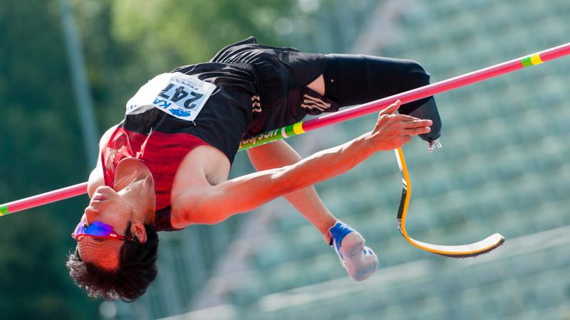 Toru Suzuki set a new T64 world record in the men's high jump competition in Grosseto