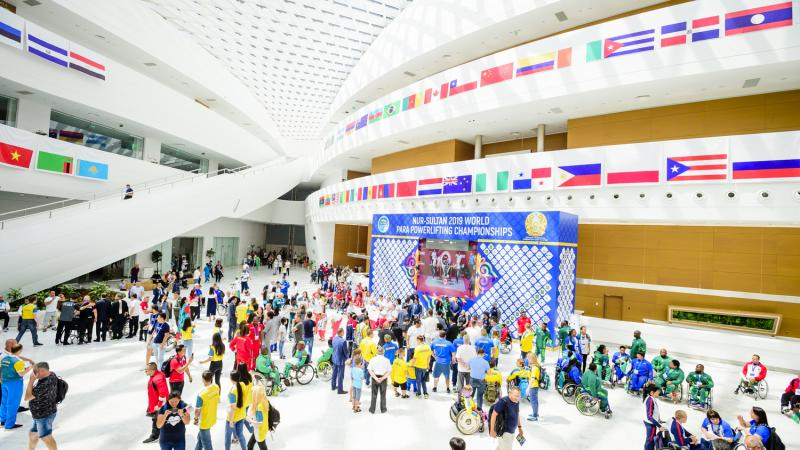 People at the Nur-Sultan 2019 venue