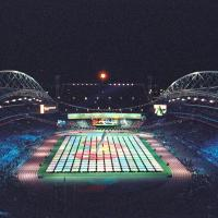 Aerial shot of the Sydney 2000 Opening Ceremony