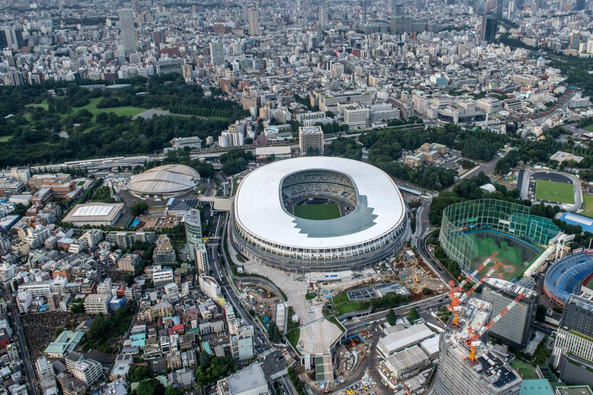 Aerial photo view of venues for Tokyo 2020