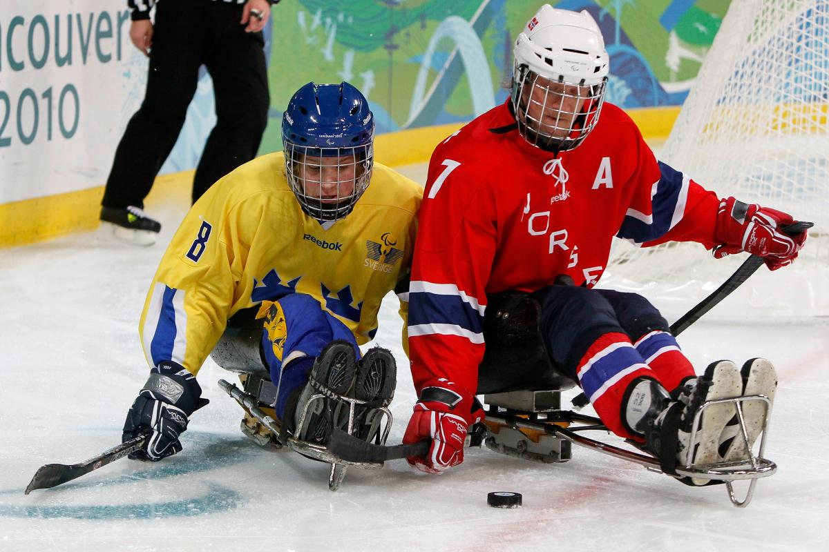Ice Sledge Hockey match - Norway vs Sweden