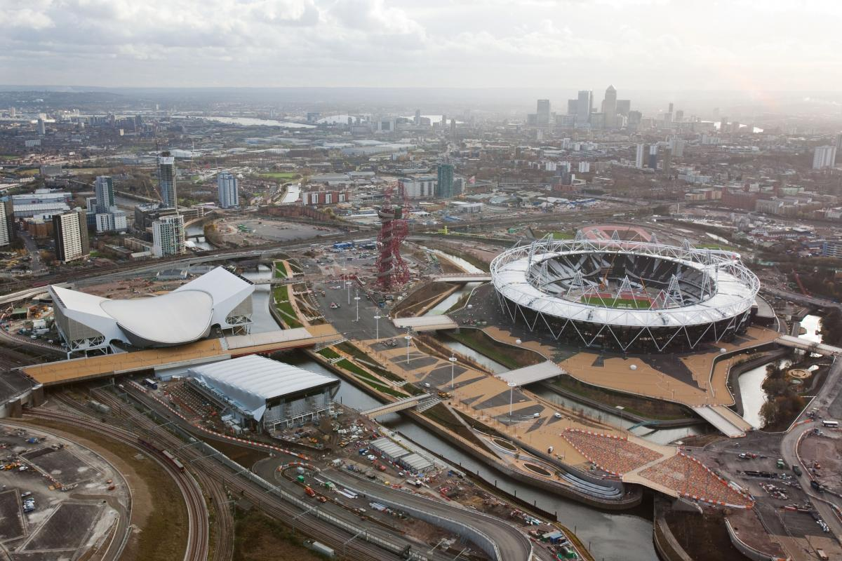 London Olympic Park Aerial View
