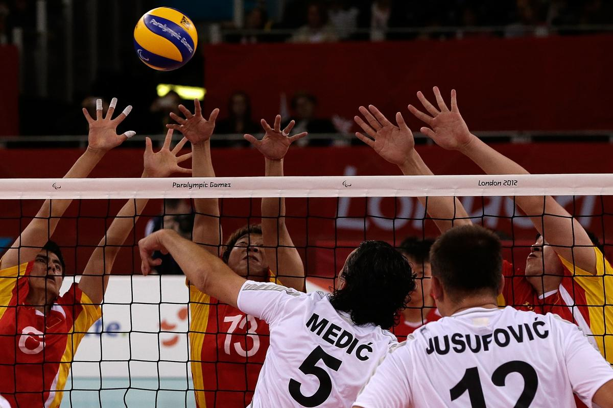 Bosnia and China men's sitting volleyball teams