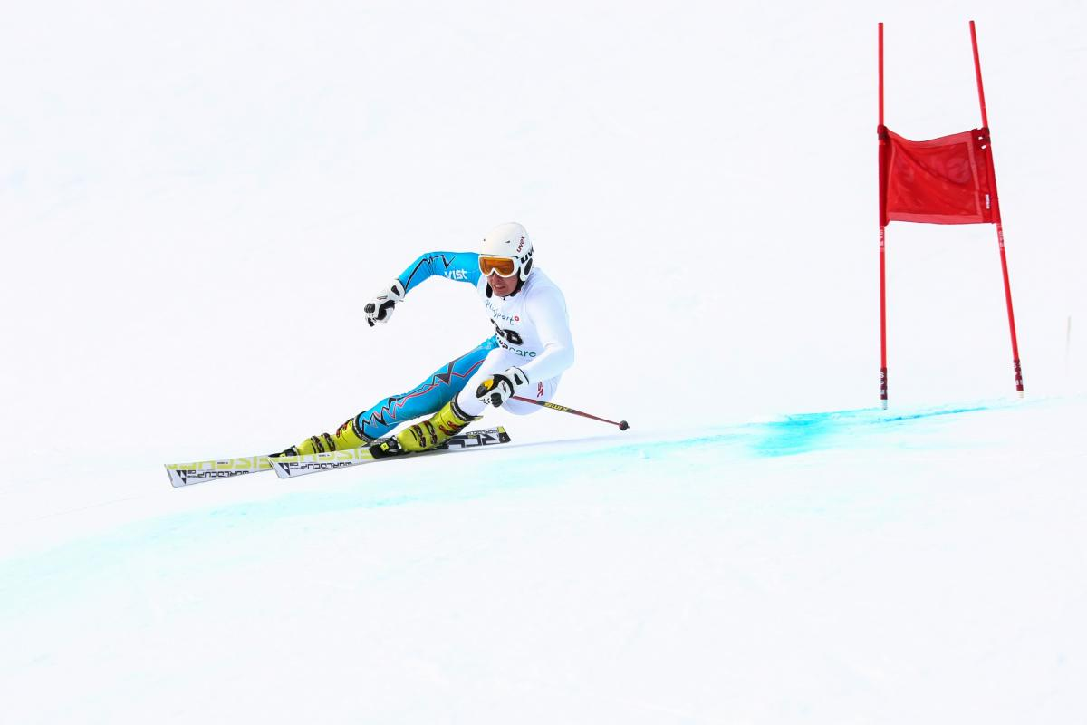 Russia's Alexandr Alyabyev at the 2013 IPC Alpine Skiing World Cup in St Moritz, Switzerland