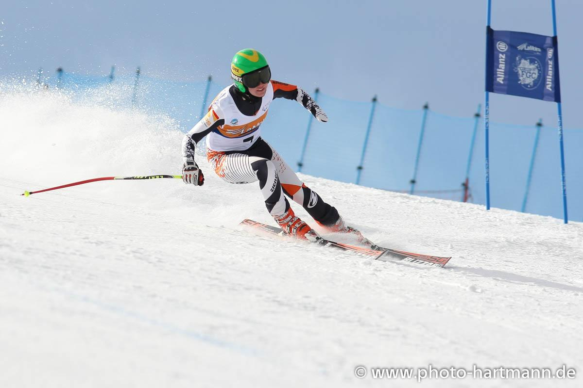 Andrea Rothfuss during downhill training