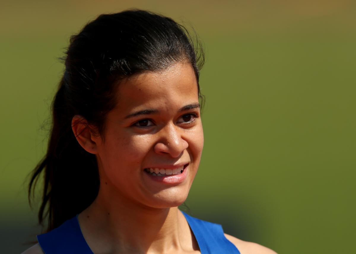Veronica Hipolito of Brazil set World Record over 100m T38 at the IPC Athletics World Championships.