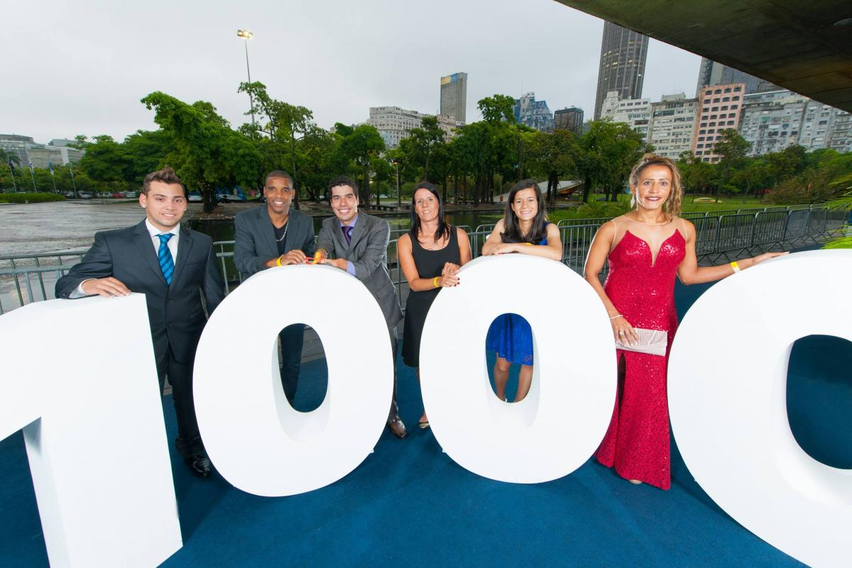 Brazilian athletes celebrate 1000 days to go until Rio 2016