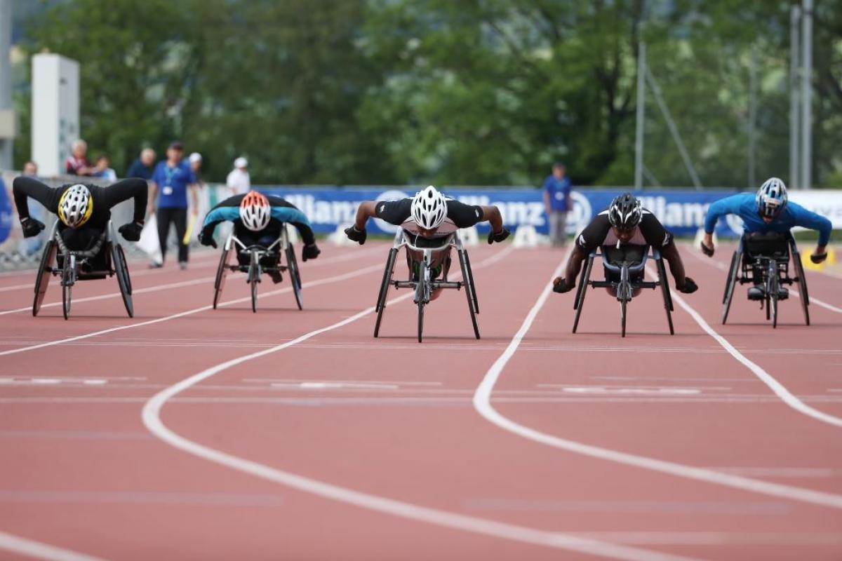 100m race at the IPC Athletics Grand Prix on May 30, 2015 in Nottwil, Switzerland.