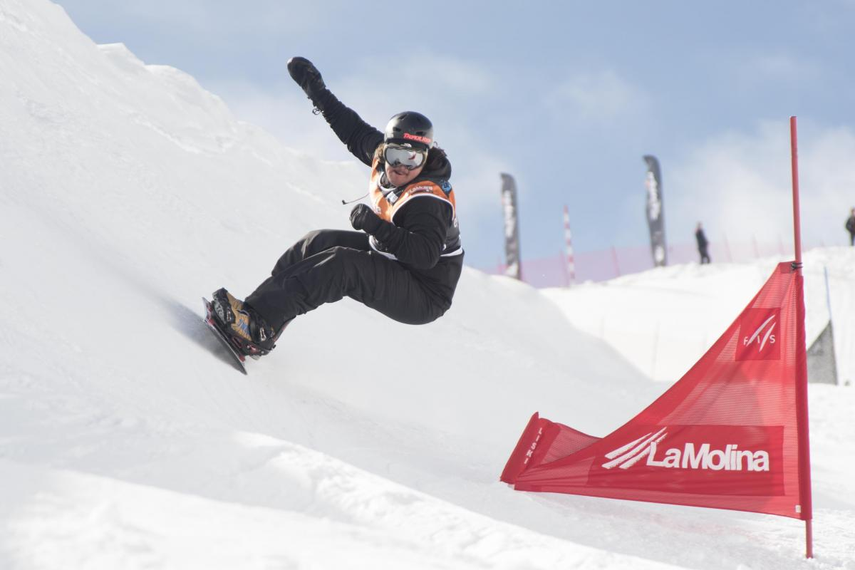 Snowboarder on a slope