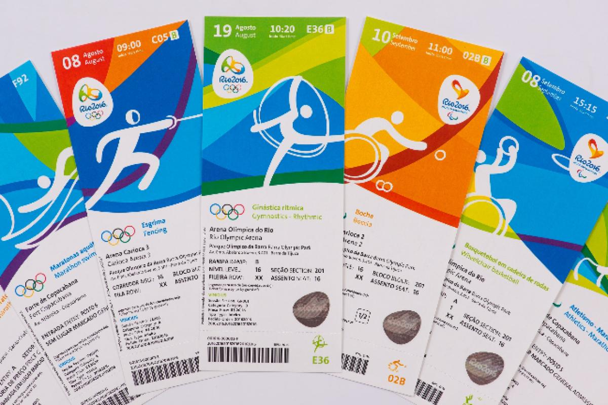 Tickets for the Rio 2016 Olympic and Paralympic Games.