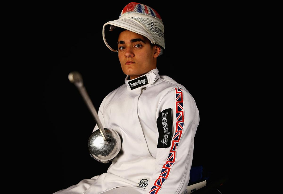 Dimitri Coutya  of Great Britain Fencing team poses during a Beazley British Fencing Profiling Day on June 26, 2013 in London, England.