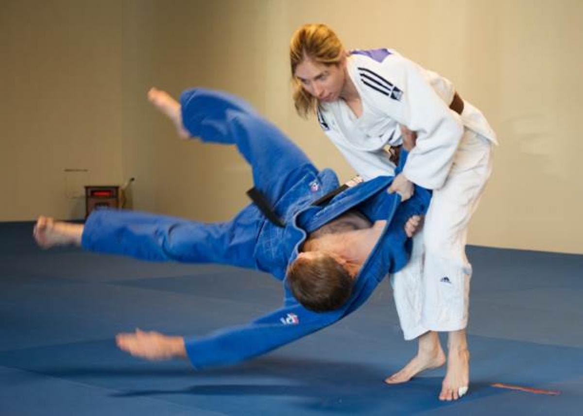 Judoka Priscilla Gagne in training for the Toronto 2015 Parapan American Games.