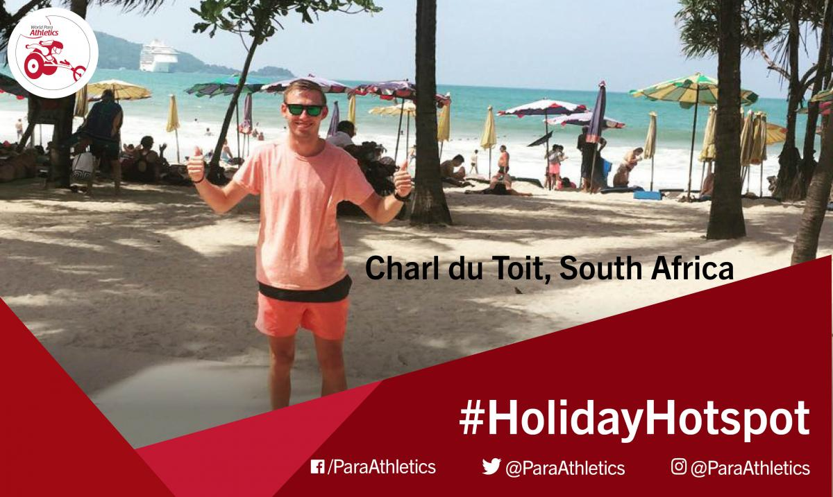 Holiday Hotspot photo of Charl du Toit on the beach in Thailand.