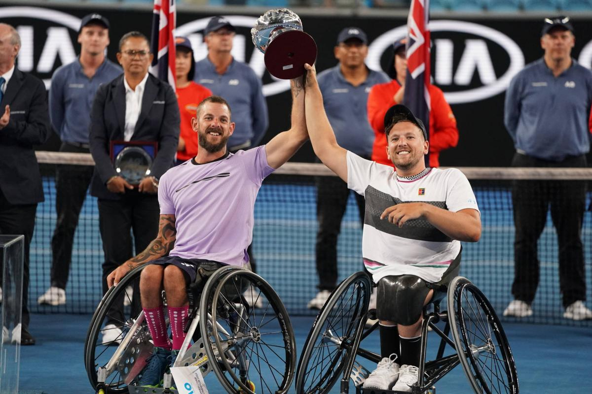 Dylan Alcott and Heath Davidson successfuly defended the Australian Open