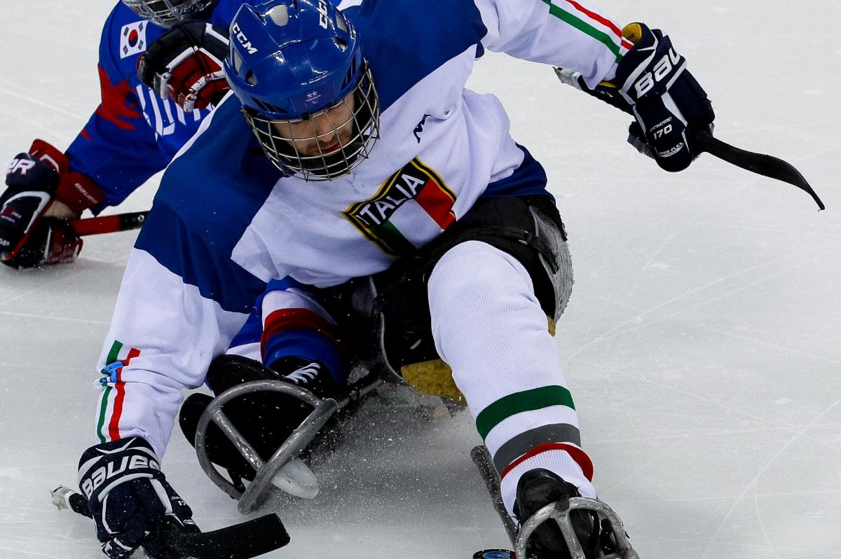 male Para ice hockey player Gianluigi Rosa