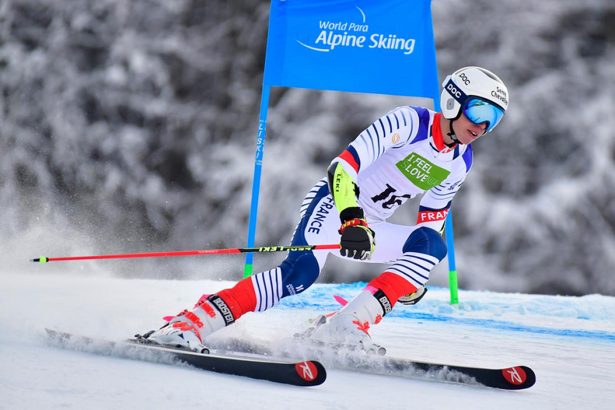 A man skiing