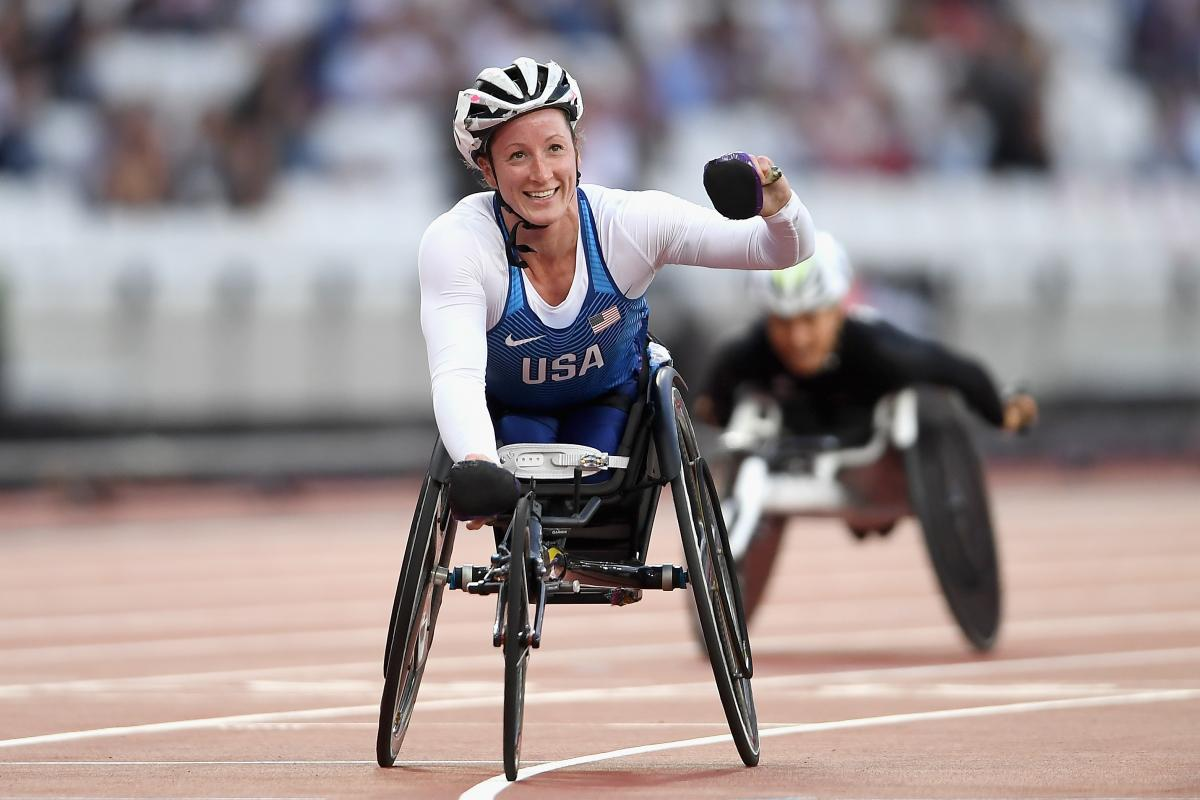 wheelchair racer on the track