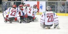 Russia's ice sledge hockey team