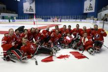 Canada ice sledge hockey team