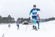 Ukraine's Ihor Reptyukh was successful in the men's long distance biathlon standing at Cable 2015.