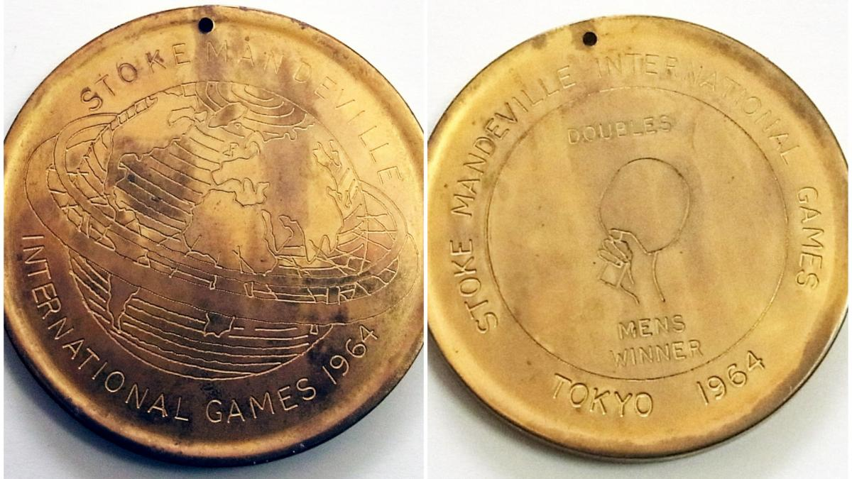 the official medals of the Tokyo 1964 Paralympic Games