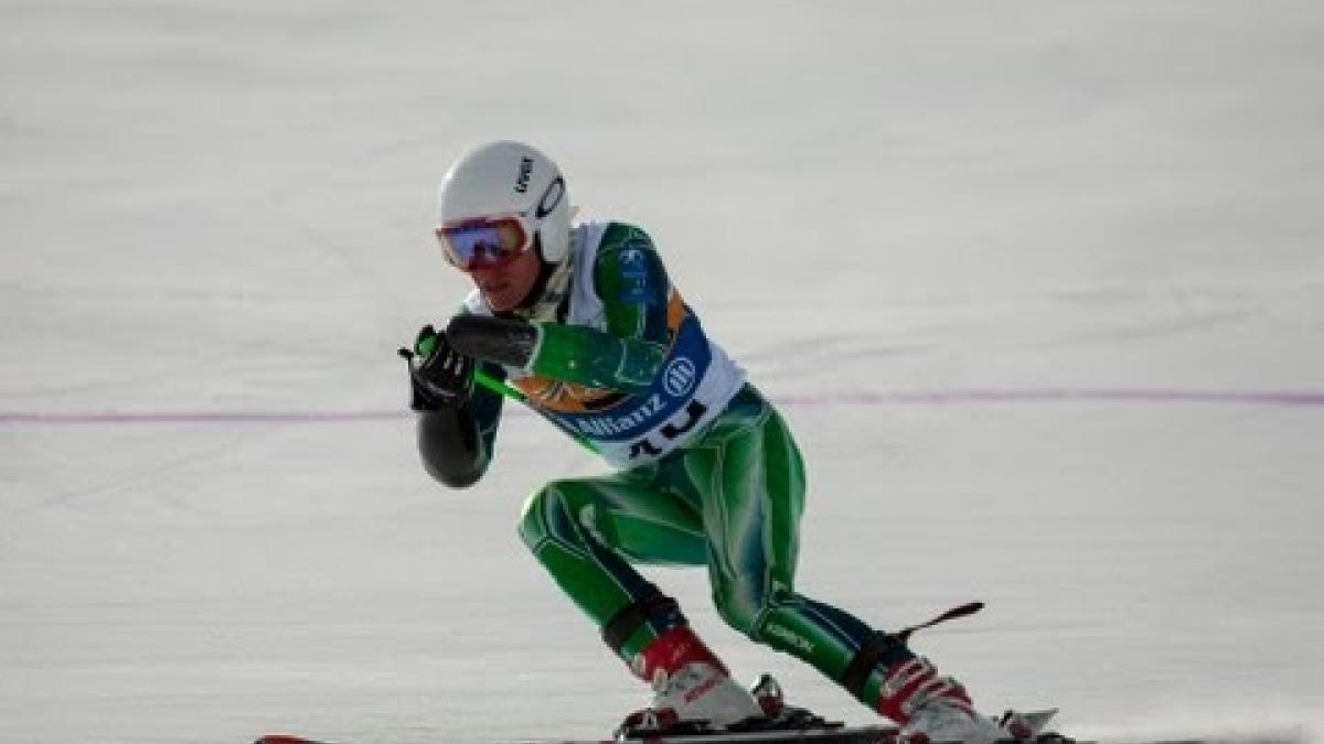 Day 4 highlights (super combined) 2013 IPC Alpine Skiing World Championships La Molina, Spain
