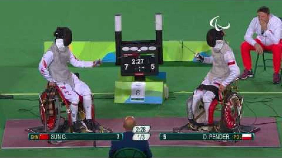 Wheelchair Fencing | China v Poland Men's Individual Foil Bronze Medal A | Rio 2016 Paralympic Games