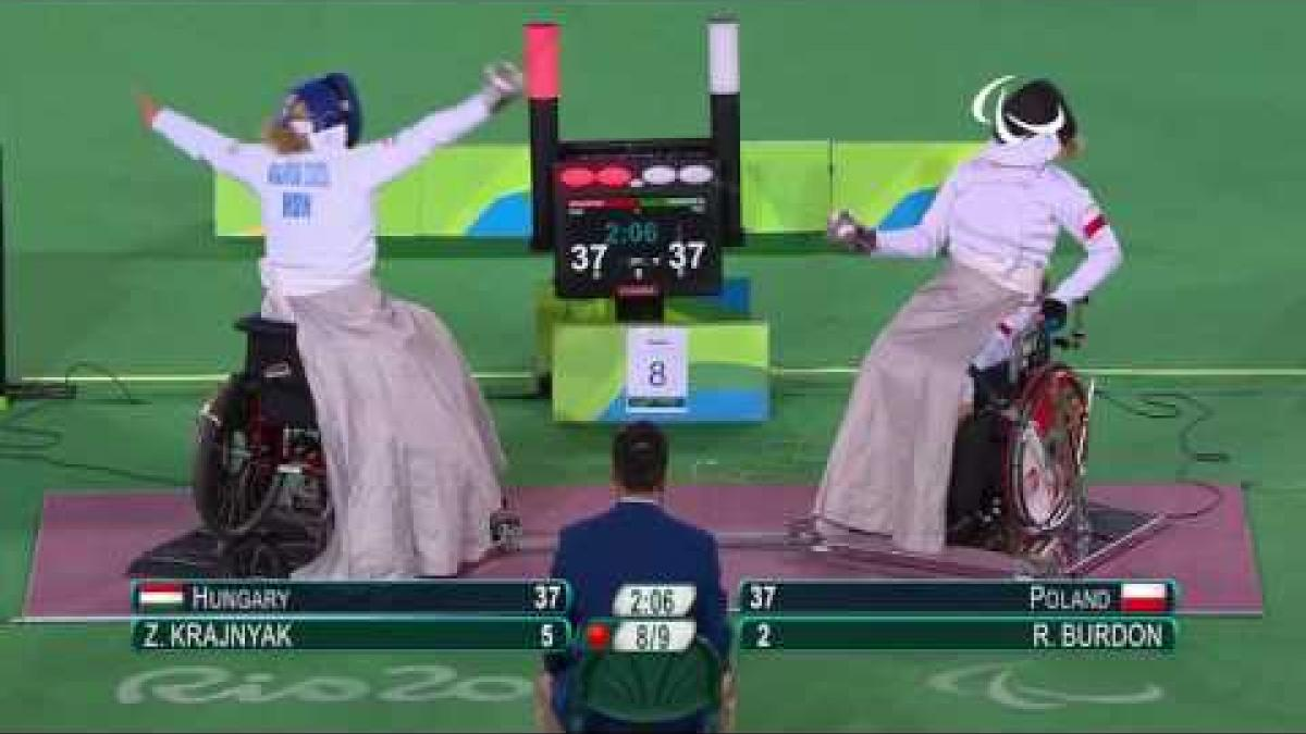 Day 8 evening | Wheelchair fencing highlights | Rio 2016 Paralympics games