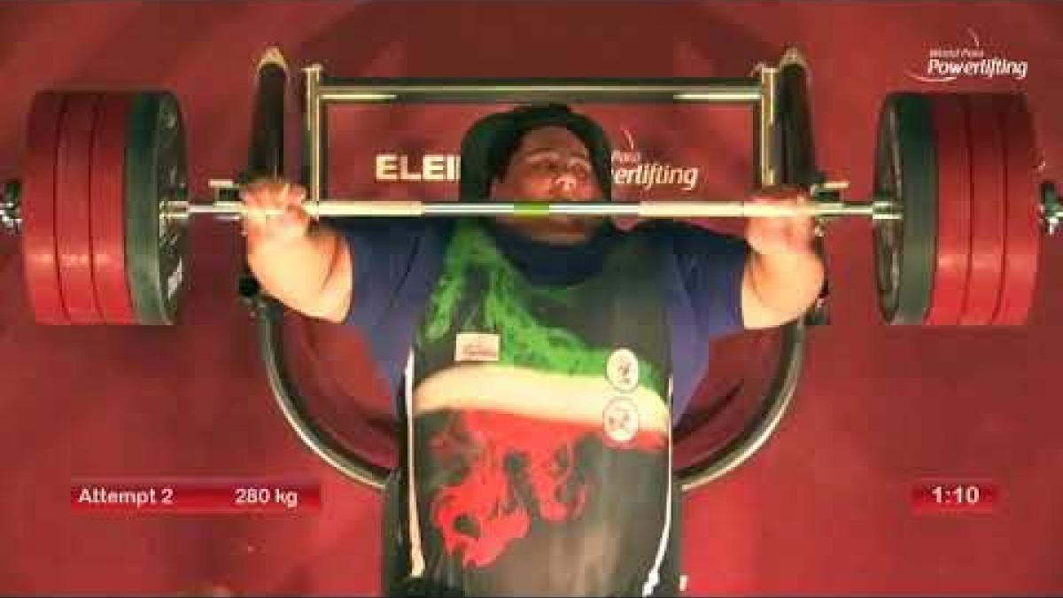 Siamand Rahman lifted 280kg to win the Asia-Oceania title