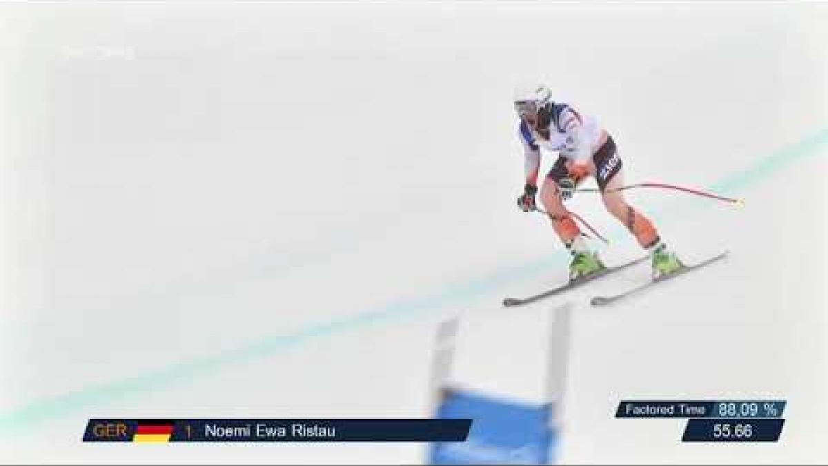 Noemi Ewa Risau wins women's super-G VI | 2018 World Para Alpine Skiing World Cup