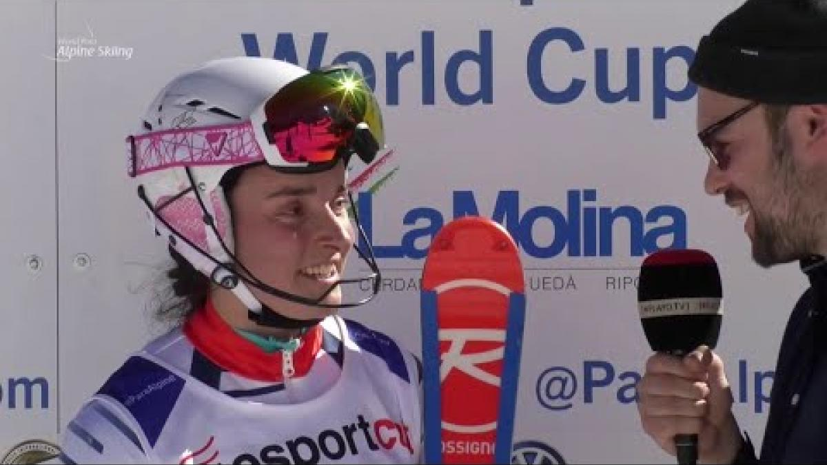 Marie Bochet | Slalom Standing Day 5 | World Para Alpine World Cup | La Molina 2019