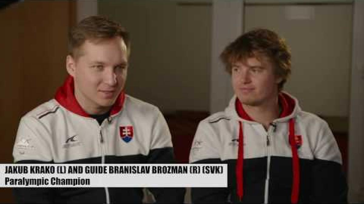 Jakub Krako and guide Branislav Brozman | Life After PyeongChang
