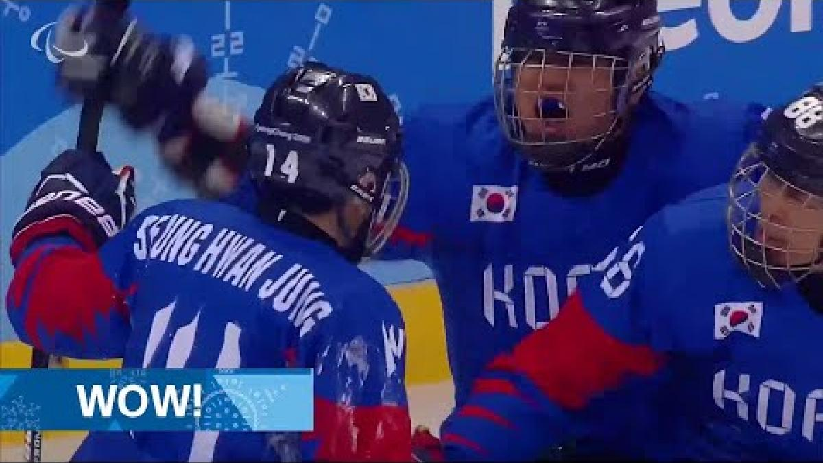 Overtime drama as host South Korea snatches win at the death - Para Ice Hockey PyeongChang 2018