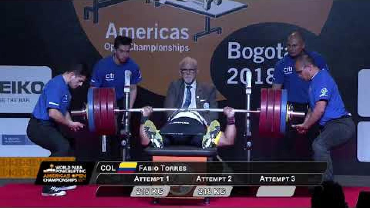 Fabio Torres | Colombia | Men's up to 97kg | WPPO Americas Champs | Bogota 2018