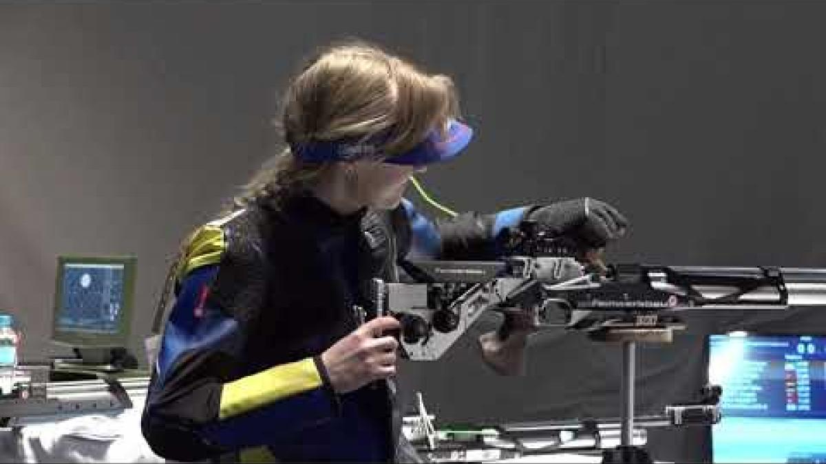 Iryna Shchetnik | World Record | World Shooting Para Sport European Champs | Belgrade 2018