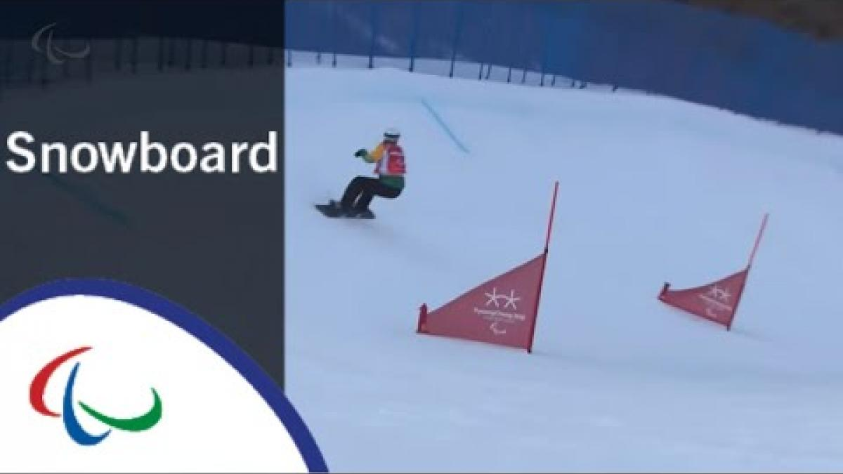 Simon PATMORE VS. Manuel POZZERLE |Snowboard cross|Big Final|PyeongChang2018 Paralympic Winter Games