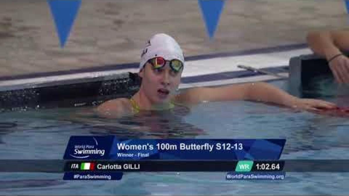 Women's 100 m Butterfly S12 - 13 | Final | Mexico City 2017 World Para Swimming Championships