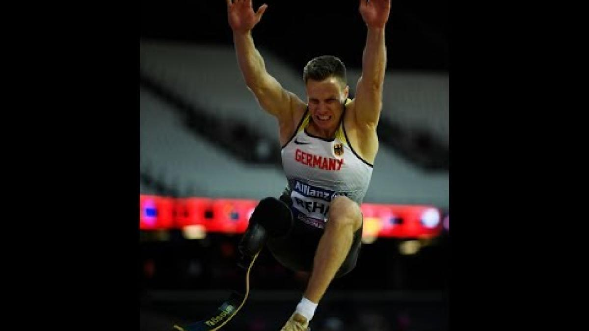 Markus REHM Gold Men's Long Jump T44 | Final | London 2017 World Para Athletics Championships