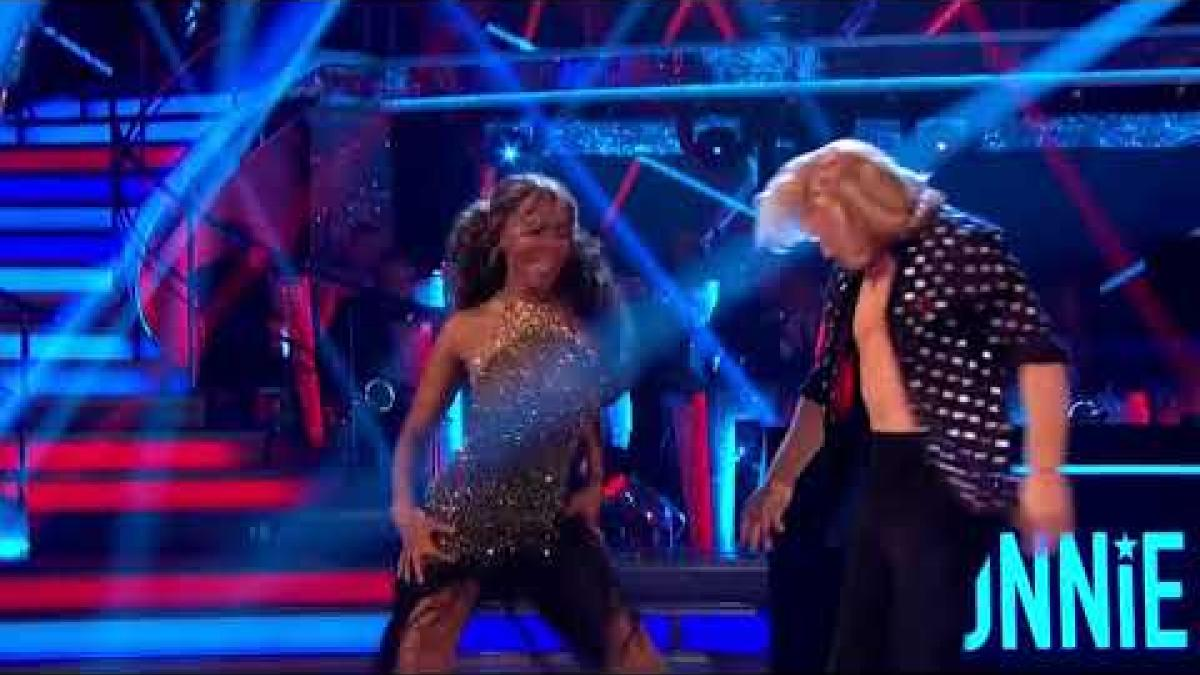 Jonnie and Oti Salsa on Week 7 of Strictly Come Dancing 2017