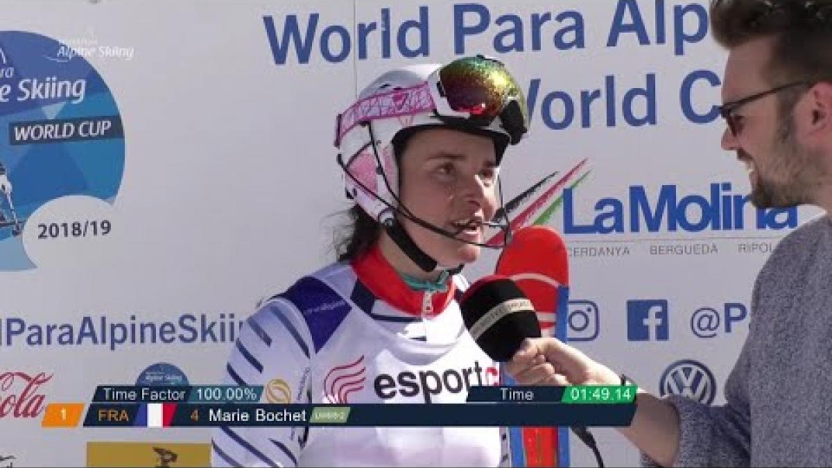 Marie Bochet | Slalom Standing Day 4 | World Para Alpine World Cup | La Molina 2019
