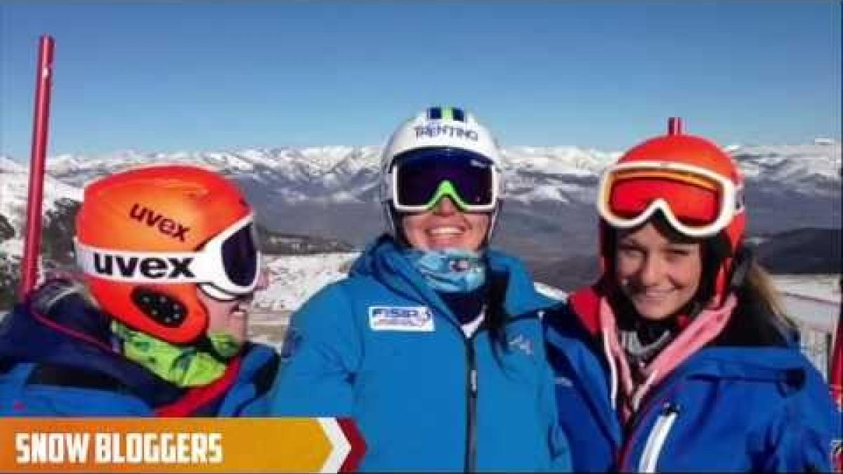 Kelly Gallagher and Charlotte Evans - Snow Bloggers - IPC Alpine Skiing World Championships