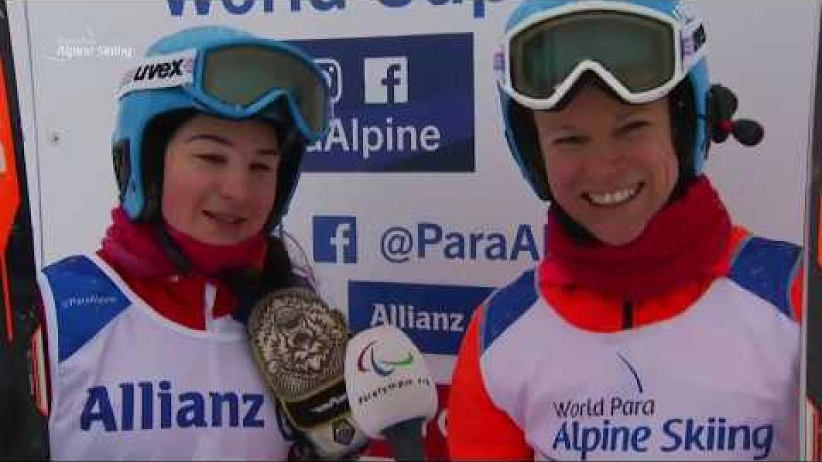 Menna Fitzpatrick and Jen Kehoe win women's Super-G VI | 2018 World Para Alpine Skiing World Cup