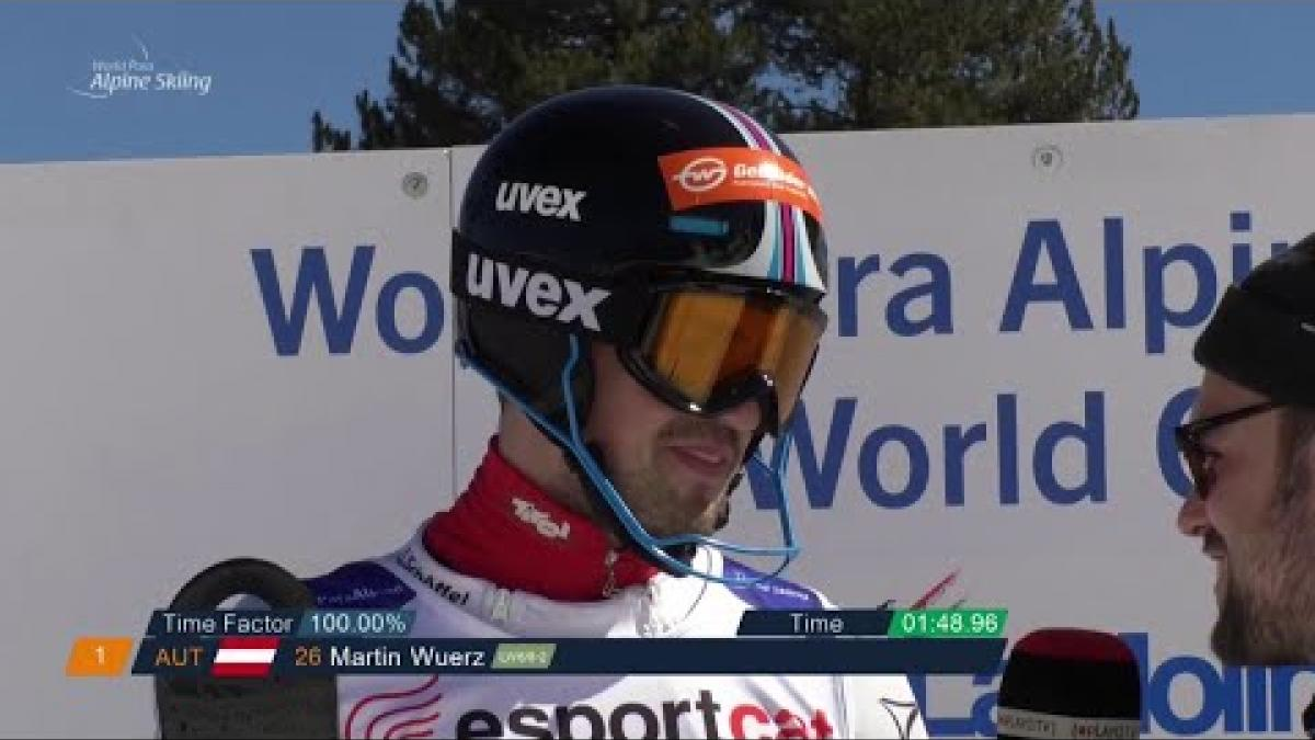 Martin Wuerz | Slalom Standing Day 5 | World Para Alpine World Cup | La Molina 2019